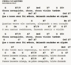 MEU CAVAQUINHO: Cifra - Chora Cavaquinho - Paulinho da Viola
