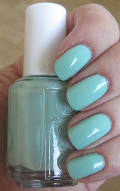 Mint Candy Apple , nail color .... To bad I can't grow my nails long :(