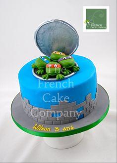 Cake for boys Ninja Turtles - Gateau D'anniversaire Pour Enfants Garcon Tortues Ninja - Verjaardagstaart