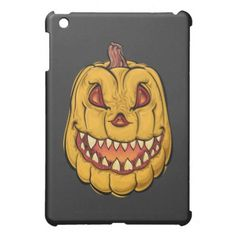 #Creepy Halloween Pumpkin iPad Mini Cover - #halloween #party #stuff #allhalloween All Hallows' Eve All Saints' Eve #Kids & #Adaults