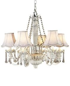 kathy ireland Home by Pacific Coast Chateau Brittany Chandelier - White