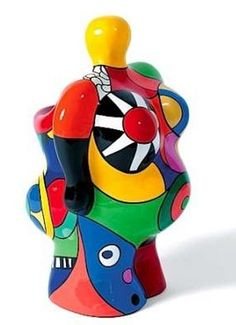 "One of the ""nana's"" by Niki de Saint Phalle. Voluptuous sculptural forms and joyfull colours."