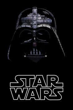 Wir haben hier mal eine ganz neue Art von Portraits gefunden. Jeder kennt Darth Vader, Yoda und Darth Maul aus Star Wars.Der Künstler Vladislav Poliakov hat sie aber mal anders dargestellt, nämlich nur aus Worten zusammengesetzt. Dabei handelt es sich imm