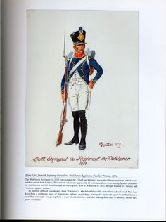 Foreign Troops: Plate 126: Spanish Infantry Battalion, Walcheren Regiment, Fusilier Private, 1811.