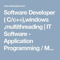 Looking for Software Developer ( C/c++),windows ,multithreading job?, we have opening in IT Software - Application Programming / Maintenance. required 2 years in IT Software - Application Programming / Maintenance field. Looking For A Job, Marketing Jobs, How To Stay Motivated, Job Search, Software Development, 6 Years, Programming, Windows, Motivation