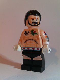 Custom CM Punk Lego Minifigure. Credit goes to MichaelFlatley at the Something Awful Lego Thread.
