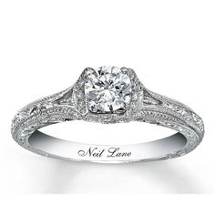 Engagement ring. I like the engraved name. Nice touch. :)