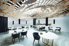 MODERN RESTAURANT DECOR | GG architects design Andalusian Noor restaurant in córdoba, | bocadolobo.com | #luxuryhotels #besthotels