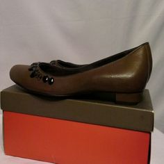 J. VINCENT shoes that are be jeweled! Black front jeweled shoes in beautiful brown! Shoes Flats & Loafers