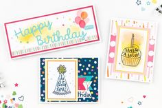 Party Time: Jeanette's Birthday Giveaway! | Make It from Your Heart Birthday Messages, Birthday Cards, Happy Birthday, Birthday Party Decorations Diy, Close To My Heart, Sympathy Cards, Party Time, Cardmaking, Giveaway
