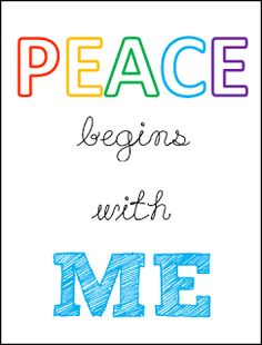 primary practice: Peace Begins With Me {Free Printables}