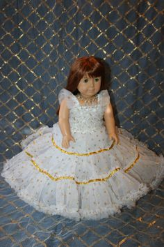 American Girl Doll Princess dress Cinderella dress by TanPage