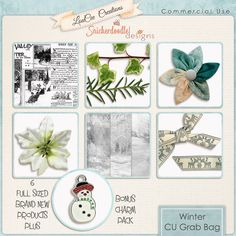 #DSDGrabBag Only $6  Get 6 Full CU Products by #LouCeeCreations and #SnickerdoodleDesigns PLUS you get a BONUS Charm pack.#digitalscrapbooking #SugarHillCo