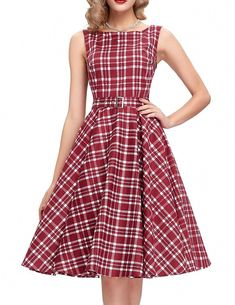 2ad2f310812 2016 Korean-fashion Autumn A-line Women Vintage Dress Sleeveless Tibetan  Dress Red Plaid Party Long Dresses Vestido de festa     To view further for  this ...