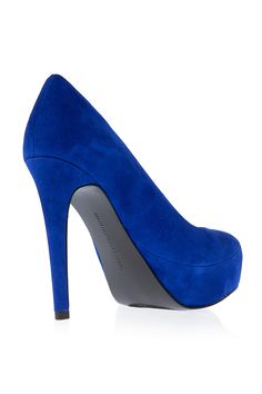 Diane Von Furstenberg Shoes | DIANE VON FURSTENBERG,Renee Royal Blue Suede Shoe back