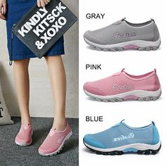 Hot-sale Mesh Breathable Candy Color Slip On Flat Casual Sport Lazy Shoes - NewChic