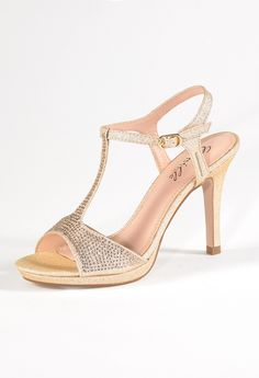High Heel Small Platform Sparkle Sandal from Camille La Vie and Group USA