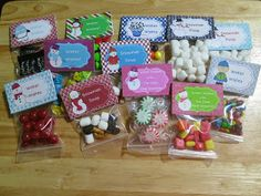 Cute winter treat bag toppers!