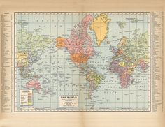 The Graphics Fairy LLC Vintage Printable  Map of the World