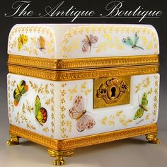 French opaline box