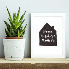 Home is where mum is Mother's Day print | hardtofind.