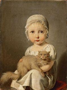 Буальи, Луи-Леопольд (1761 Ла Бассэ - 1845 Париж) -- Габриэлла Арно в детстве. часть 4 Лувр. Описание картины, скачать репродукцию.