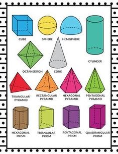 Education Discover Shape Posters - Shape Printables - Black and White Classroom Decor Shapes Worksheets Shapes Activities Geometry Worksheets Learning Shapes Mathematics Geometry Printable Graph Paper Printable Shapes Free Printables Geometric Solids Mathematical Shapes, Mathematics Geometry, Geometry Worksheets, Shapes Worksheets, Kindergarten Math Worksheets, Maths, 3d Shapes Activities, Learning Shapes, 3d Shapes Kindergarten