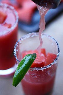Watermelon Lime Margaritas