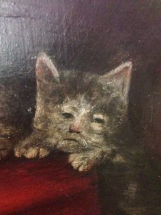 """ memeufacturing: "" medieval painters: what is a feline? a miserable and fuzzy humanoid perhaps? "" Medieval artists who had never seen the animals they were painting or who were working. Memes Arte, Art Memes, Cute Cats, Funny Cats, Fun Funny, Hilarious, Arte Peculiar, Ugly Cat, Medieval Paintings"