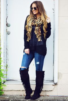 Keep It Cool Sweater: Black
