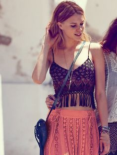 Free People FP ONE Along the Fringe Bralette at Free People Clothing Boutique