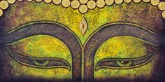 Afbeeldingen, stockfoto's en vectoren van Buddha Painting Acrylic Painting Canvas, Canvas Art, Buddha Kunst, Buddha Face, Thought For Today, Buddha Painting, Custom Wallpaper, Wallpaper Murals, Emu
