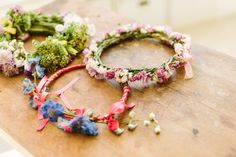 Flower Crowns from the Flower Arrangement Party hosted by @BLOOMY DAYS with pictures from @Chasing Heartbeats   #sistermag9 #flowers #bloomydays #diy