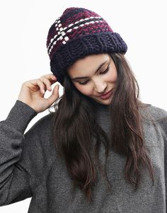 Love this Tartan Lion Wool Knit beanie at Wool and the Gang. Or DIY with their patterns and knit kits.