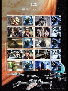 GB 2015 - Film Star Wars: The Force Awakens collectible sheetlet mnh