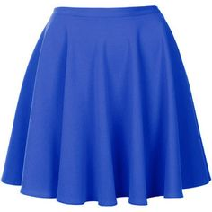 Topshop Topshop Blue Milano Skater Skirt - LoLoBu