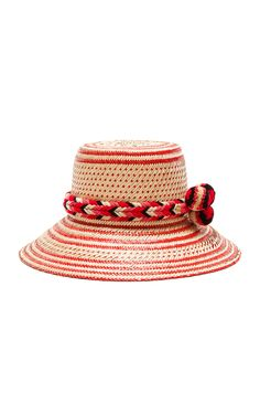 GUANABANA Guajiro Hat in Natural & Red