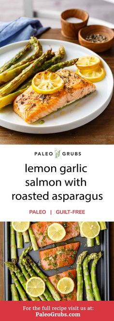 This wonderfully easy to prepare one sheet lemon garlic salmon with asparagus recipe will delight paleo and seafood lovers alike. It's got everything you could hope for in a nutritious, balanced meal -- delicious salmon and healthy asparagus covered with a rich and tangy mixture of lemon juice and zest, garlic, and olive oil that can be ready to go in 20 minutes from start to finish.