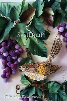 Картина, панно Квиллинг: В тени винограда. Бумага. Фото 1