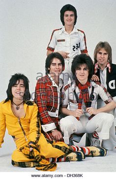 BAY CITY ROLLERS  UK pop group about 1975 - Stock Image