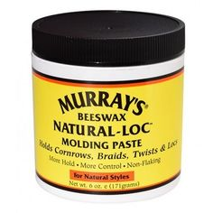 Murray's Bees Wax Natural-Loc Molding Paste 6 oz $3.59   Visit www.BarberSalon.com One stop shopping for Professional Barber Supplies, Salon Supplies, Hair & Wigs, Professional Products. GUARANTEE LOW PRICES!!! #barbersupply #barbersupplies #salonsupply #salonsupplies #beautysupply #beautysupplies #hair #wig #deal #promotion #sale #murrays #beewax #naturalloc #molding #paste