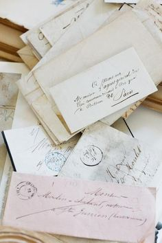 Old letters! Old letters! Heartfelt and time taking! Old letters! I CANNOT RESIST THEM . Old Letters, White Letters, Letters Mail, Plum Pretty Sugar, You've Got Mail, Handwritten Letters, Handwritten Typography, Vintage Lettering, Lost Art