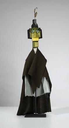 Paul Klee - Sans titre (Esprit de la boîte d'allumettes) 1925. Poupée de théâtre guignol - 57 cm