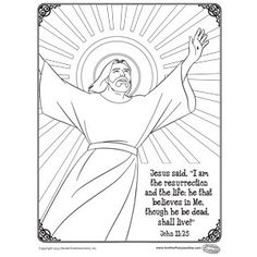 Free Easter Coloring Page John 11:25