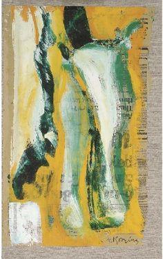 Willem de Kooning, Untitled, Acryl on newspaper