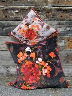 Bespoke Velvet Cushions by Lou Gardiner