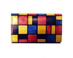 Ručne-maľovaná-peňaženka-8542-inšpirovaný-motívom-Piet-Mondrian Piet Mondrian