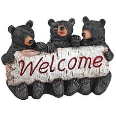 Design Toscano Black Bear Cubs Welcome Statue *** This is an Amazon Affiliate link. You can get more details by clicking on the image.