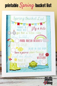 {FREE} Spring Bucket List Printable | West Valley Moms Blog