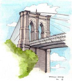 Brooklyn Bridge by James Anzalone, via Flickr